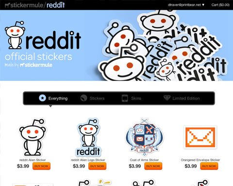 reddit Sticker Store screenshot